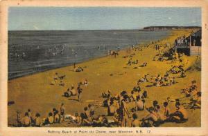 Canada Bathing Beach at Point du Chene near Moncton Promenade Plage Postcard