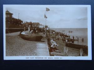 Kent HERNE BAY East Cliff Promenade & Beach c1920's RP Postcard