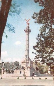 Estatua de la Independencia Mexico Tarjeta Postal 1955