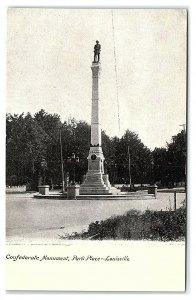 Confederate Monument, Park Place, Louisville, KY Postcard *7C2