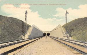 Windsor ON-Detroit Michigan Central Railroad Tunnel Under the River c1908