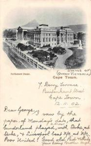 South Africa Cape Town, Parliament House (Statue of Queen Victoria) 1902