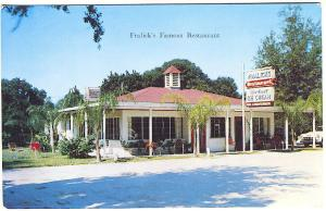 Mt.Dora FL Fralick's Famous Restaurant Ice Cream Old Cars Postcard
