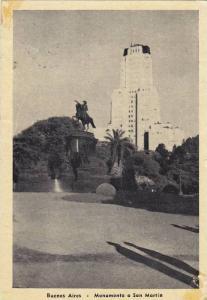 Monumento A San Martin, Buenos Aires, Argentina, PU-1948