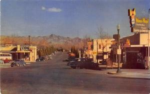 Boulder City NV Street View Bus Store Fronts Old Cars Postcard