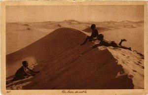 CPA AK TUNISIE Un bain de sable (239133)