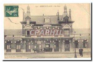 Berck Beach Postcard Old Train Station (ane hitch)