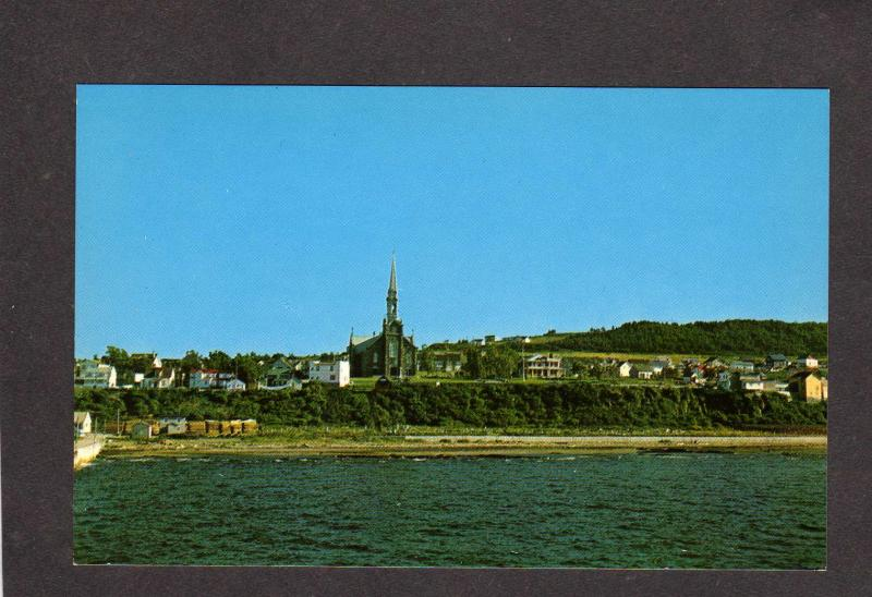 PQ Cap Chat Gaspe Nord Quebec Canada Carte :Postale Postcard CQ Gaspesie Church