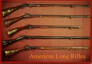 Military American Long Rifles Also Called Kentucky Rifles