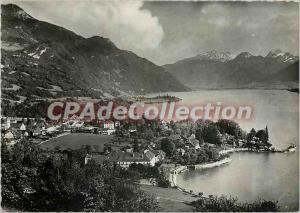 Modern Postcard Lake Annecy Talloires general view
