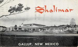 Gallup New Mexico~Shalimar~Tourist Rendezvous~1960 Route 66 Roadside~B&W
