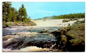 Curtain Falls on Crooked Lake into Iron Lake, BWCA, MN Postcard *5D