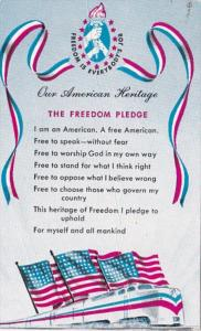 Freedom Train Postcard The Freedom Pledge