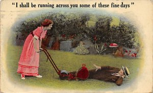 Tools Post Card Running Across You 1917