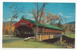 NH Jackson Covered Bridge Ellis River White Mountains Vintage Postcard