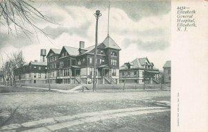 Elizabeth General Hospital, Elizabeth, New Jersey, Early Postcard, Unused