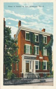 Virginia Historical Society - Home of Rober E Lee in Richmond - WB