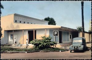 gabon, PORT-GENTIL, MANDJI, Unknown Building, Citroën Car (1959)