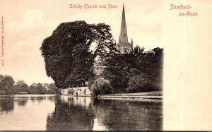 England Stratford Upon Avone Trinity Church and River