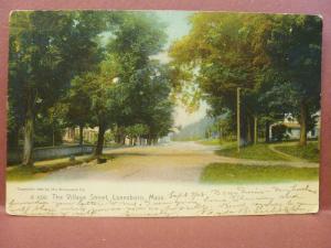Old Postcard MA Lanesboro The Village Street