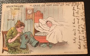 Vintage Outcault signed postcard- early 1900's with stamp