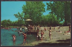 Beach Scene,Chain of Lakes,Northern IL Postcard BIN