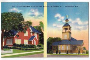 St Barthelomew's Church & Rectory, Old Forge NY