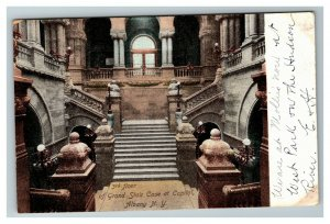 Grand Stair Case, Capital Building, Albany NY c1907 Postcard K1