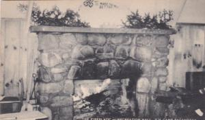 ADIRONDACK MOUNTAINS , New York, PU-1953; Fireplace, Recreation Hall, 4-H Camp