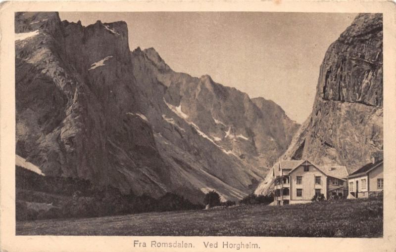 FRA ROMSDALEN NORWAY NORGE VED HORGHEIM~S S BERGENSKE~RITTER #75 PHOTO POSTCARD