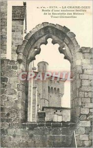 Old Postcard La Chaise Dieu remains of an Ancient Window of the Sacristy of t...
