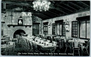 Makanda, Illinois Postcard Lodge Dining Room, Giant City State Park c1950s