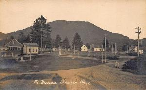 Stratton ME Mt Bigelow Dirt Street View RPPC Postcard