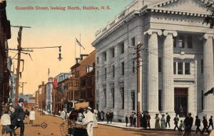 Canada Granville Street looking North Halifax Postcard