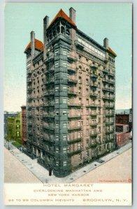 New York City~Brooklyn~Hotel Margaret~99 Columbia Heights~c1910 Postcard