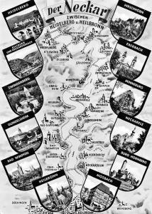 Der Neckar zwischen Heidelberg u. Heilbronn, Gundelsheim Heilbronn Mosbach