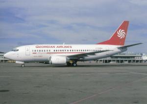 GEORGIAN AIRLINES, Boeing 737 5K5, unused Postcard