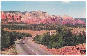 Great view of red rocks in Arizona, card sent in 1955. Stamp #1033, Jefferson