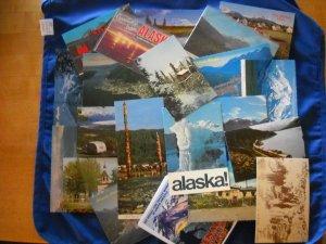 23 ALASKA postcards / 1930-1960s era / 3 repros - Chrome / Linen