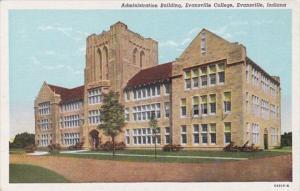 Indiana Evansville Administration Building Evansville College Curteich