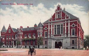 German House, Indianapolis, Indiana, Early Postcard, Used in 1910