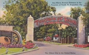 Florida Saint Augustine San Marco Avenue Entrance To The Fountain Of Youth