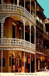 Louisiana New Orleans Lace Balconies At Royal and St Peters