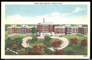 USA Postcard  Henry Ford Hospital Detroit Michigan