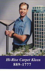 Advertising Hi-Rise Carpet Kleen Henry Vanderbeek Vancouver