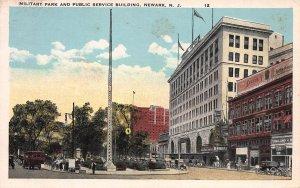 Military Park and Public Service Bldg., Newark, N.J., early postcard, unused