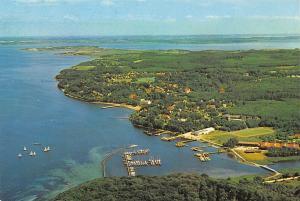 Gluecksburg Hafen Harbour Boats Aerial view Panorama