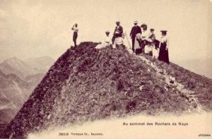 MOUNTAIN SUMMIT SOMMET DES ROCHERS DE NAYE SWITZERLAND