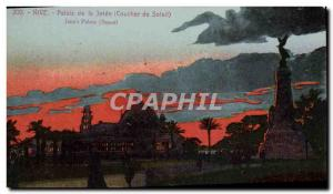 Old Postcard Nice Palais de la Jetee Sunset