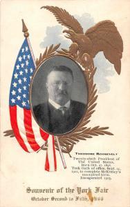 York Fair Theodore Roosevelt President Patriotic Vintage Postcard JD933316